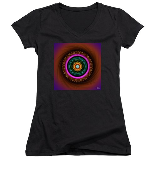 Sacred Geometry 664 Women's V-Neck