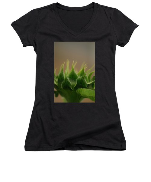Women's V-Neck T-Shirt (Junior Cut) featuring the photograph Safe Within by Ramona Whiteaker