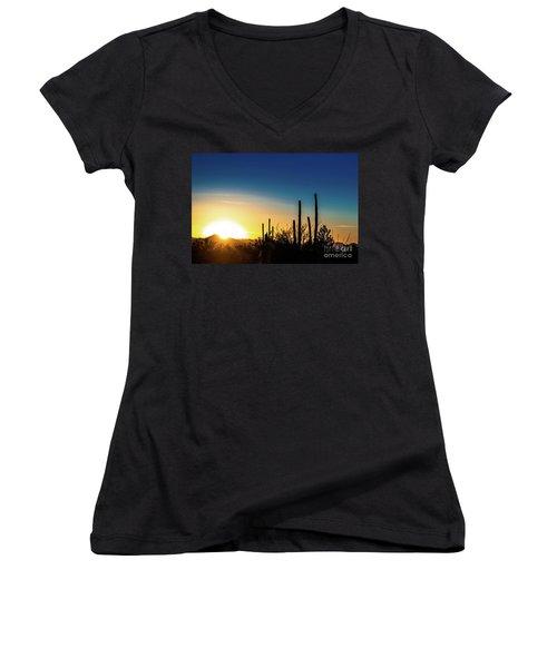 Saguaro Sunset Women's V-Neck