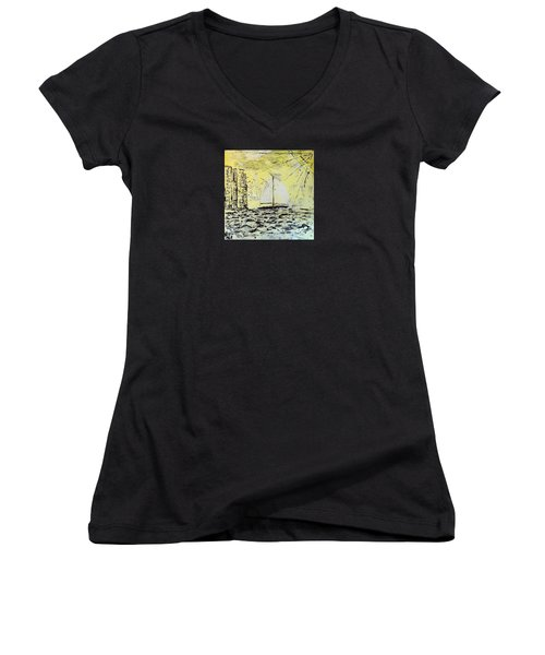 Sail And Sunrays Women's V-Neck (Athletic Fit)