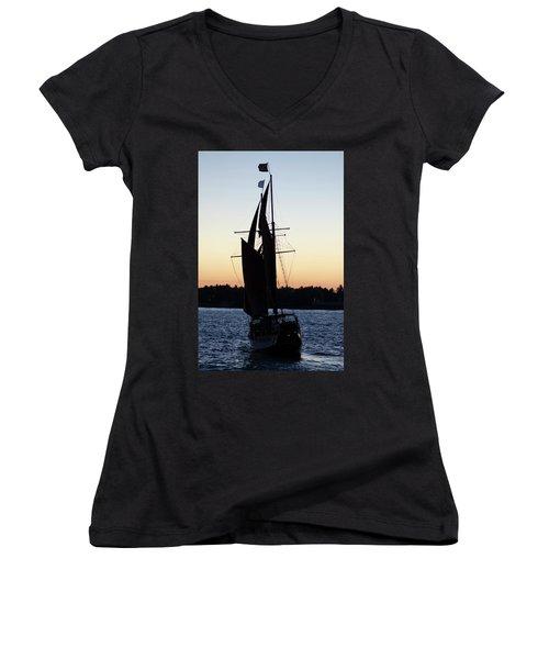 Sailing At Sunset Women's V-Neck