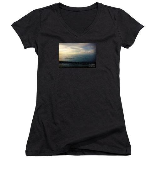 Sailing Cedar Women's V-Neck T-Shirt