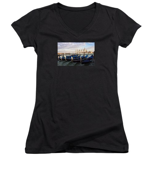 Sailing From Venice Women's V-Neck (Athletic Fit)