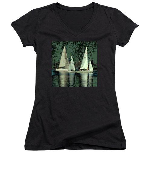 Sailing Reflections Women's V-Neck T-Shirt