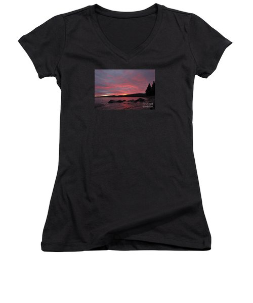 Women's V-Neck T-Shirt (Junior Cut) featuring the photograph Sailor's Delight by Sandra Updyke