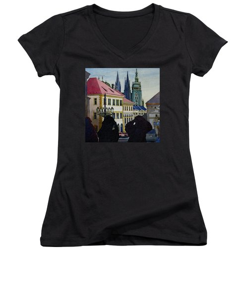 Saint Vitus Cathedral Women's V-Neck (Athletic Fit)