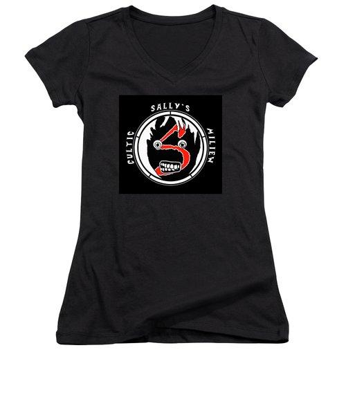 Sallys Cultic Miliew Women's V-Neck T-Shirt