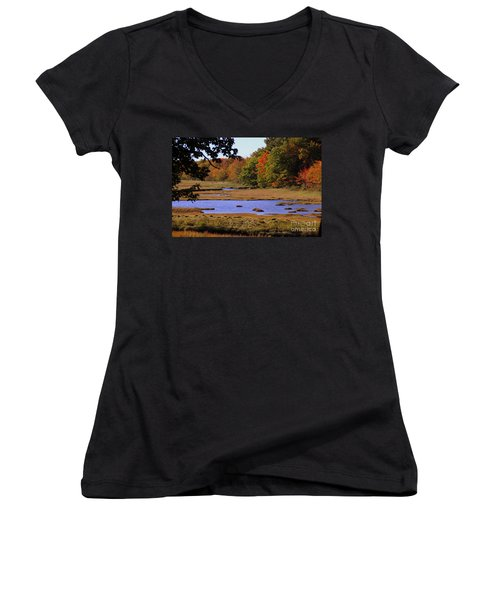 Salt Marsh River Women's V-Neck (Athletic Fit)