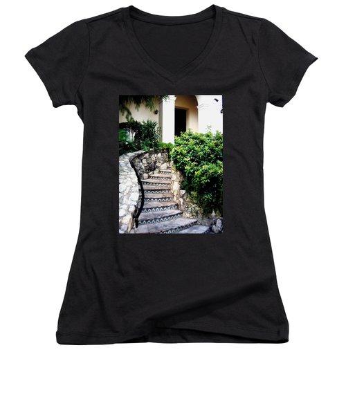 San Antonio Stairway Women's V-Neck