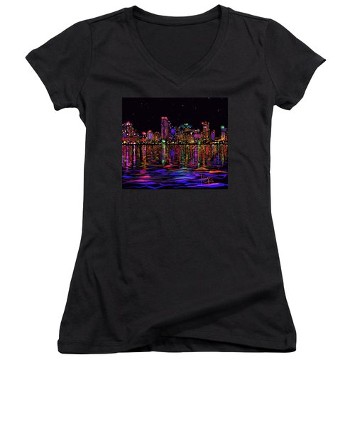 San Diego Stars Women's V-Neck (Athletic Fit)