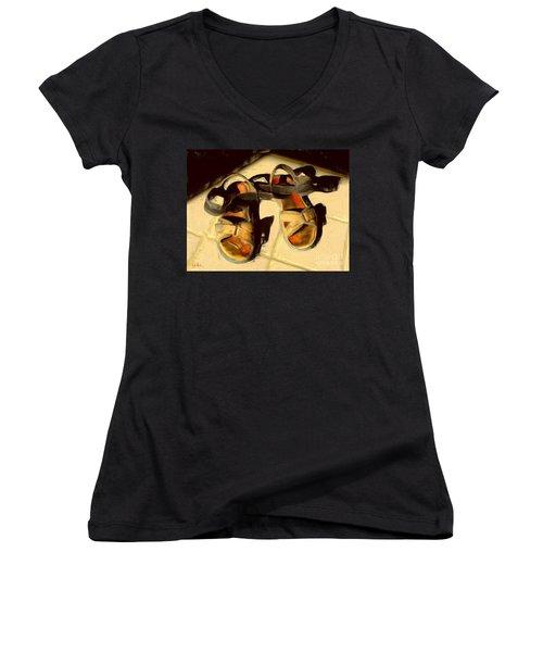 Sandals In Cabo Sun Women's V-Neck T-Shirt (Junior Cut)