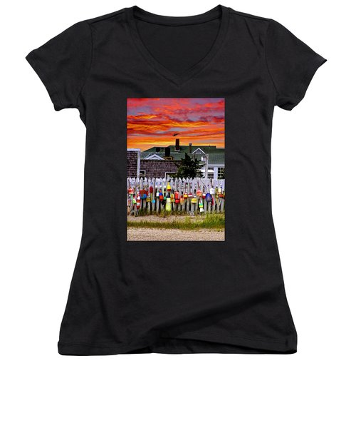 Sandy Neck Sunset Women's V-Neck