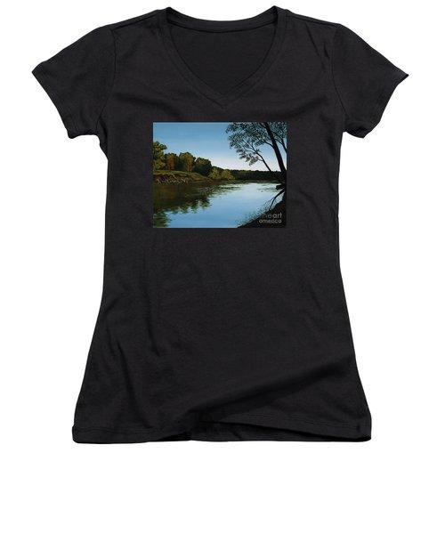 Sangamon Solitude Women's V-Neck T-Shirt