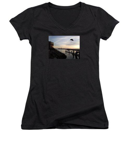 Santa Cruz Evening Women's V-Neck T-Shirt
