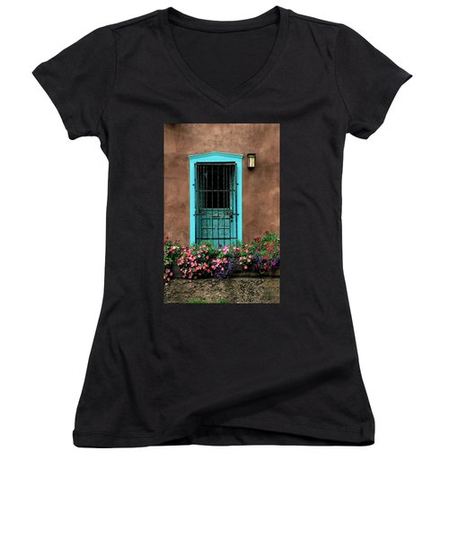 Santa Fe Door #1 Women's V-Neck (Athletic Fit)