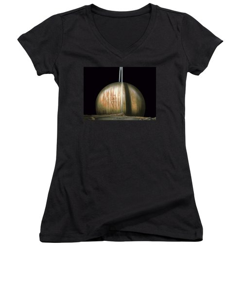 Saturn Rising Women's V-Neck (Athletic Fit)