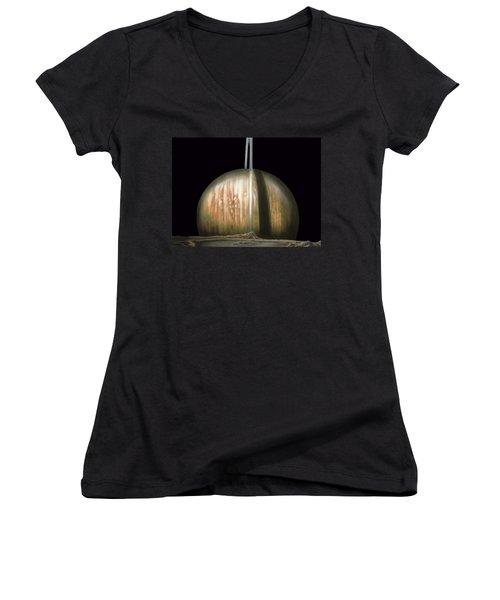 Saturn Rising Women's V-Neck T-Shirt