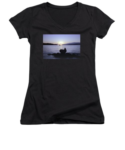 Sausalito Morning Women's V-Neck