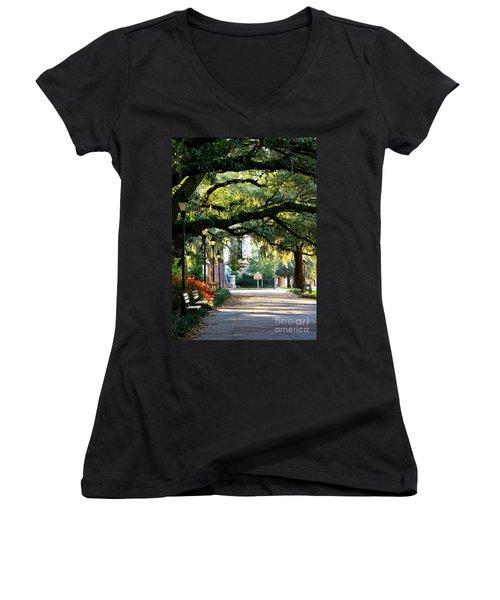 Savannah Park Sidewalk Women's V-Neck
