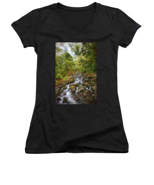 Savegre River - Costa Rica 5 Women's V-Neck