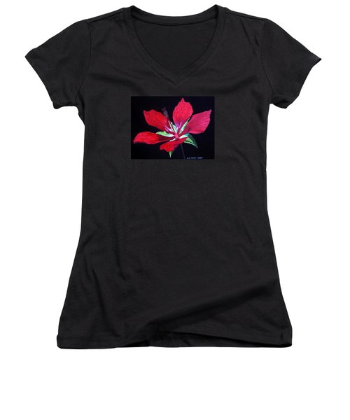 Scarlet Women's V-Neck (Athletic Fit)