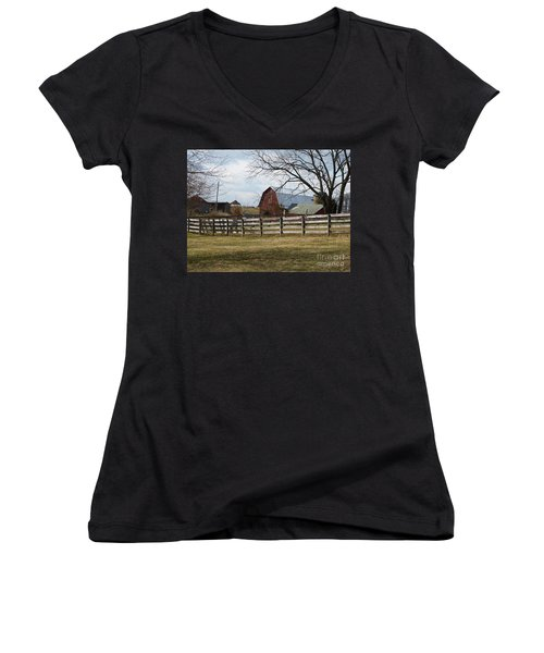 Scene On The Farm Women's V-Neck (Athletic Fit)