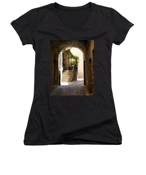 Scenic Archway Women's V-Neck (Athletic Fit)