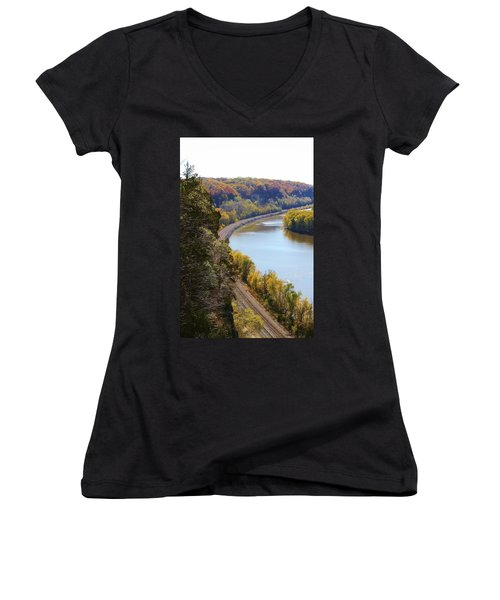 Women's V-Neck T-Shirt (Junior Cut) featuring the photograph Scenic View by Bruce Bley