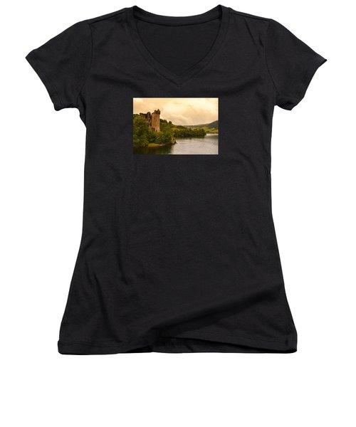 Scottish Castle Women's V-Neck T-Shirt
