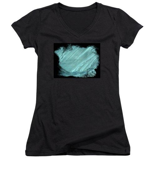 Sea Blue Women's V-Neck T-Shirt