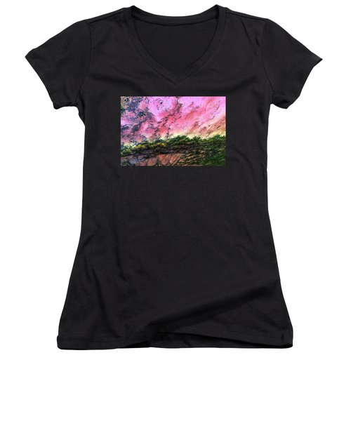 Sea Foam Art Women's V-Neck