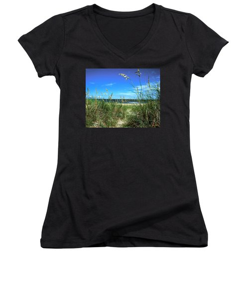 Sea Oat Dunes 11d Women's V-Neck