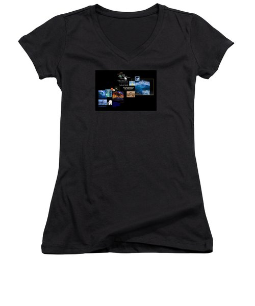 Seas Of Dreams  Women's V-Neck T-Shirt (Junior Cut) by Peter Hedding