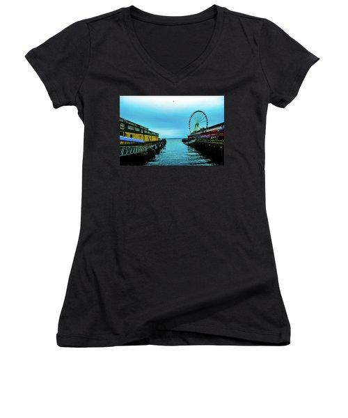 Sea Side, Seattle 2 Women's V-Neck