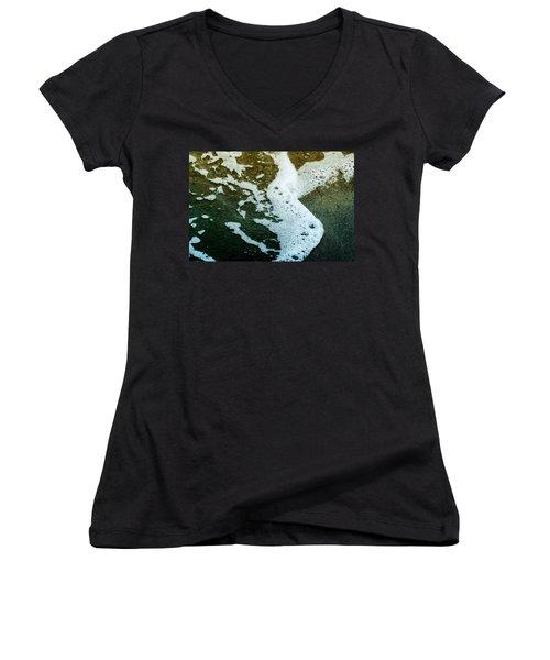 Seafoam Women's V-Neck T-Shirt (Junior Cut) by Ellen Heaverlo