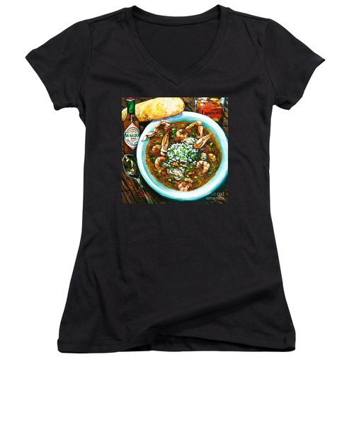 Seafood Gumbo Women's V-Neck (Athletic Fit)