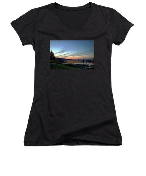 Seagate Pier Women's V-Neck T-Shirt