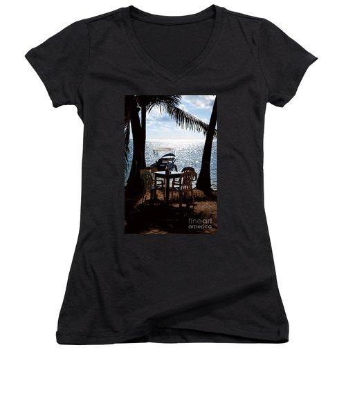 Seaside Dining Women's V-Neck T-Shirt