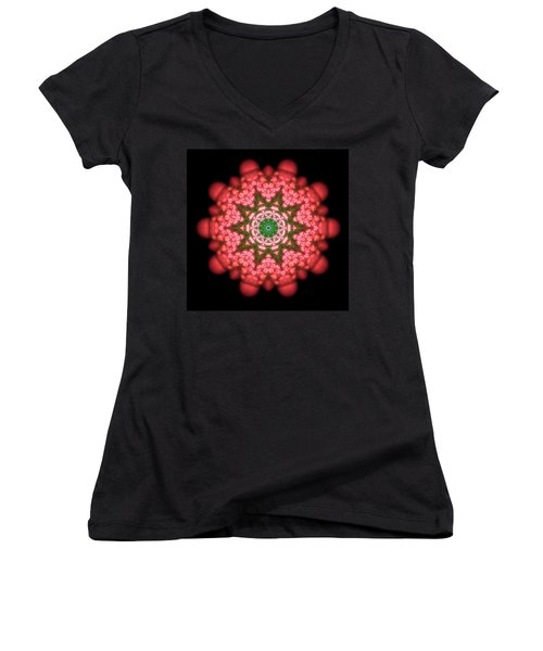 Seastar Lightmandala  Women's V-Neck T-Shirt (Junior Cut) by Robert Thalmeier