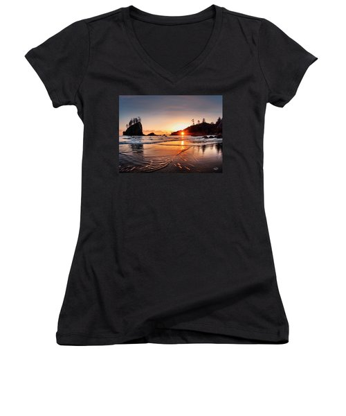 Second Beach 3 Women's V-Neck T-Shirt