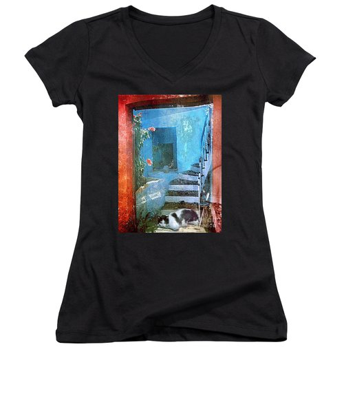 Secret Space Women's V-Neck T-Shirt (Junior Cut) by Alexis Rotella
