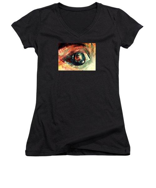 See Through Women's V-Neck T-Shirt