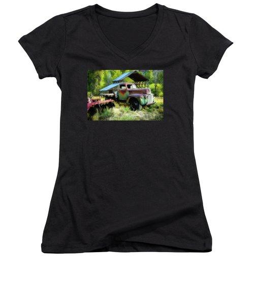 Seen Better Days - Ford Farm Truck Women's V-Neck