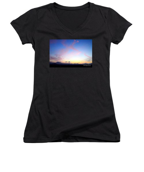 Send Out Your Light Women's V-Neck (Athletic Fit)