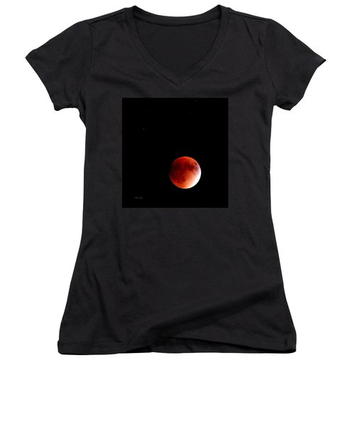 September Bloodmoon 2015 Women's V-Neck