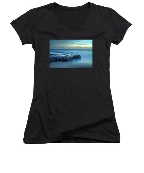 Serenity At The Beach Women's V-Neck (Athletic Fit)