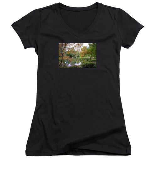 Serenity Women's V-Neck T-Shirt (Junior Cut) by Keith Hawley