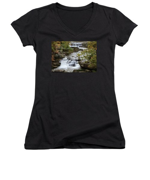 Women's V-Neck featuring the photograph Serenity Prayer by Dale Kincaid