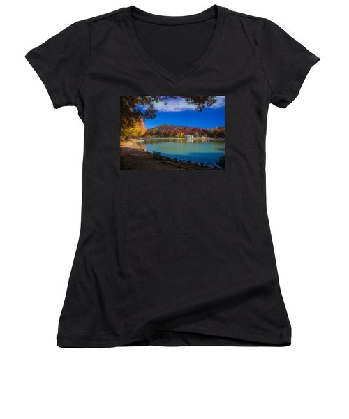 Seven Sisters From Lake Tomahawk Women's V-Neck (Athletic Fit)