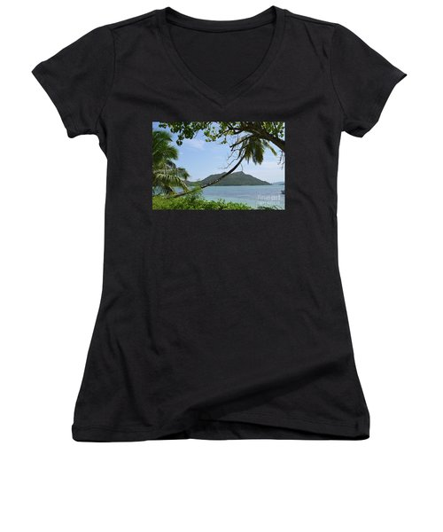 Seychelles Islands 2 Women's V-Neck T-Shirt (Junior Cut)